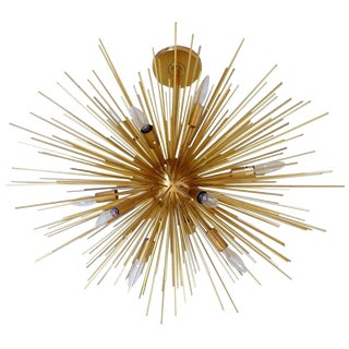 Late 20th Century Gold Sputnik Chandelier For Sale
