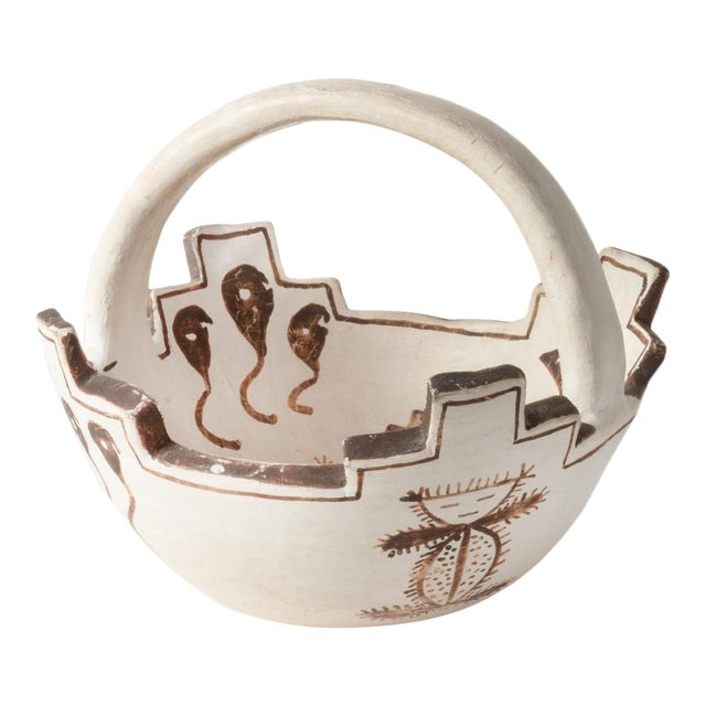 Jennie Laate Southwestern Prayer Bowl With Handle For Sale