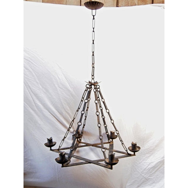 1920 S Iron Star Form Chandelier Image 2