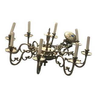 Williamsburg Governor's Palace Brass Chandelier