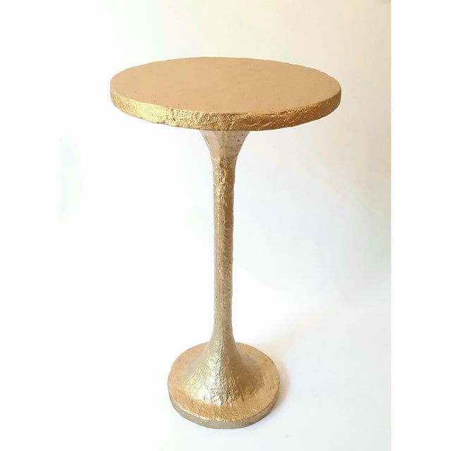 Not Yet Made - Made To Order Modern Artisan Small Accent Table Gold For Sale - Image 5 of 5