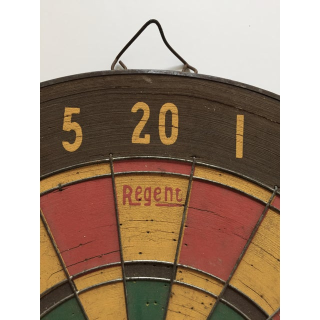 English Traditional Vintage Regent Dart Board For Sale - Image 3 of 8