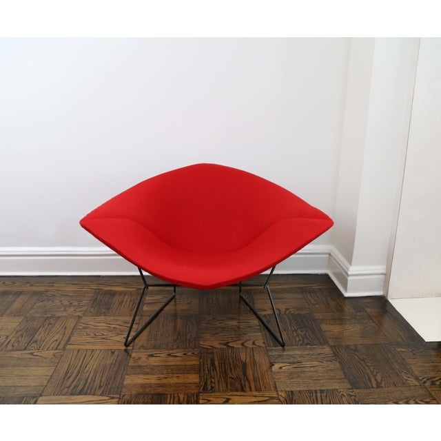 Red Mid-Century Modern Harry Bertoia for Knoll Diamond Chair For Sale - Image 8 of 8