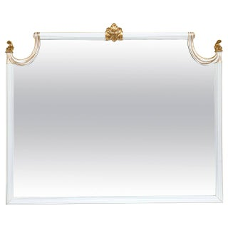 Hollywood Regency Giltwood Wall Console Mirror For Sale