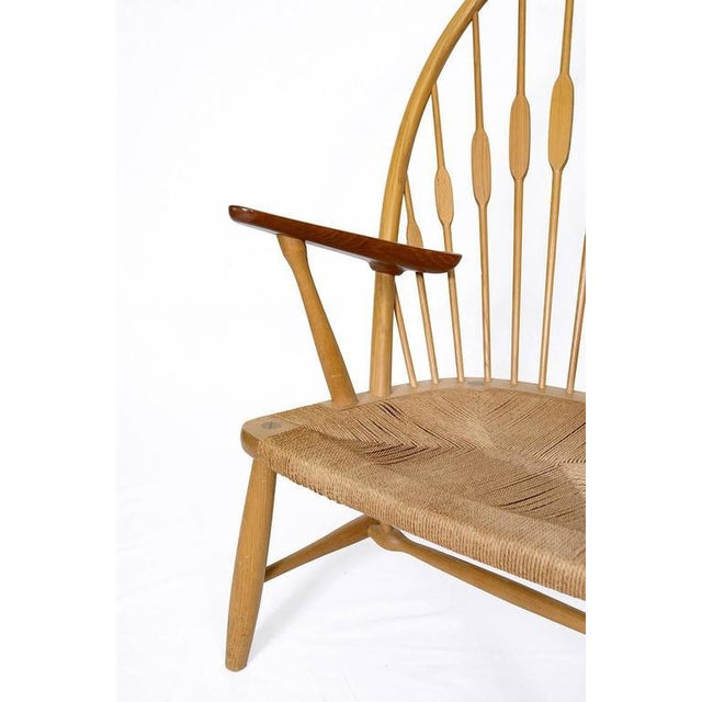 "Wood Hans Wegner ""Peacock"" Chair For Sale - Image 7 of 9"