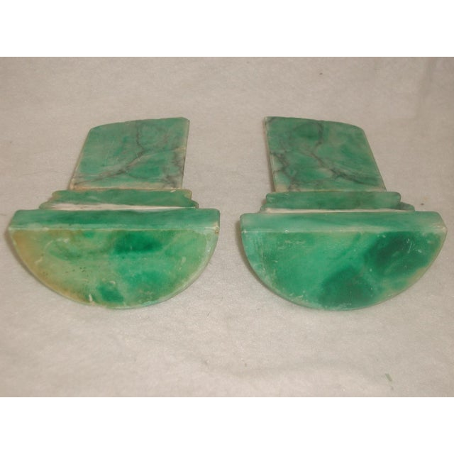Late 20th Century Italian 20th Century Marble Bookends - Pair For Sale - Image 5 of 6