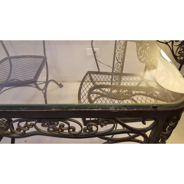 Lee L. Woodard & Sons Mid-Century Wrought Iron Dining Set- 5 Pieces For Sale - Image 10 of 10