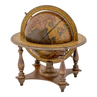 Small Old World Italian Globe on Stand For Sale