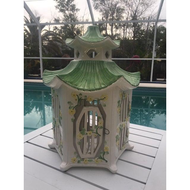 Italian Ceramic Pagoda Birdhouse - Image 2 of 8