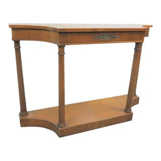 French Empire Style Cherry Console Table