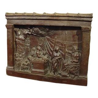 Impressive Bronze Plaque of a Classical Scene, 19th Century For Sale