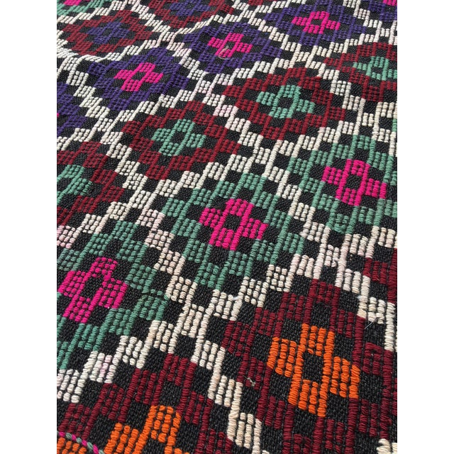 Vintage Anatolian Kilim Tribal Embroidered Cecim Rug - 5′10″ × 6′1″ For Sale In Houston - Image 6 of 9