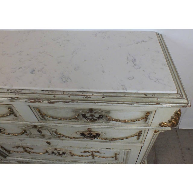 19th C. French Painted Chest of Drawers - Image 2 of 10