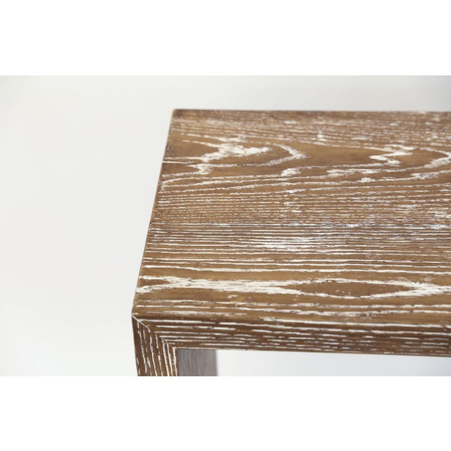 Mid-Century Cerused Oak Console For Sale - Image 9 of 13