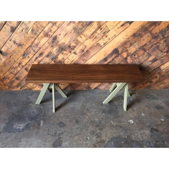 Angle Leg Wood Table Bench - Image 6 of 6