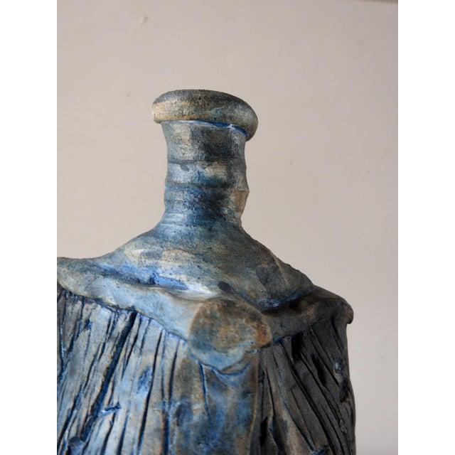 Studio Raku Pottery Bottle or Vase For Sale - Image 4 of 7