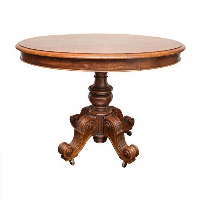 Gorgeous Louis Philippe antique French oak pedestal table from the Normandy region. Louis Philippe ruled in unpretentious...