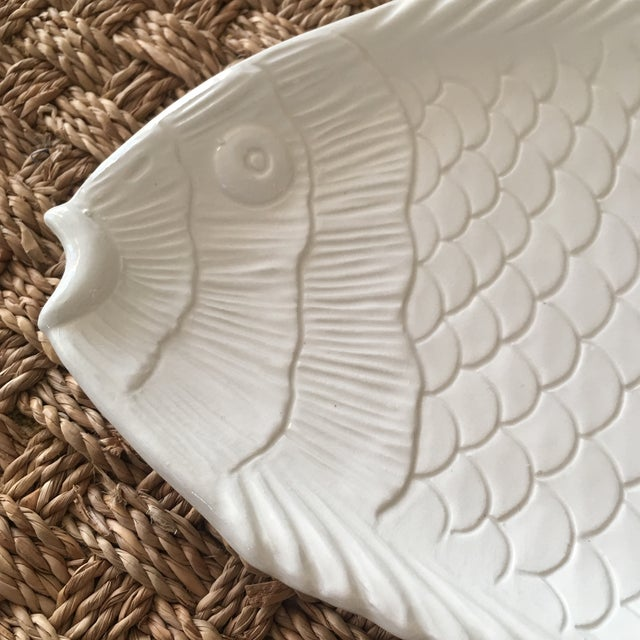 Mid-Century Modern Italian Pottery Fish Platter For Sale - Image 3 of 6