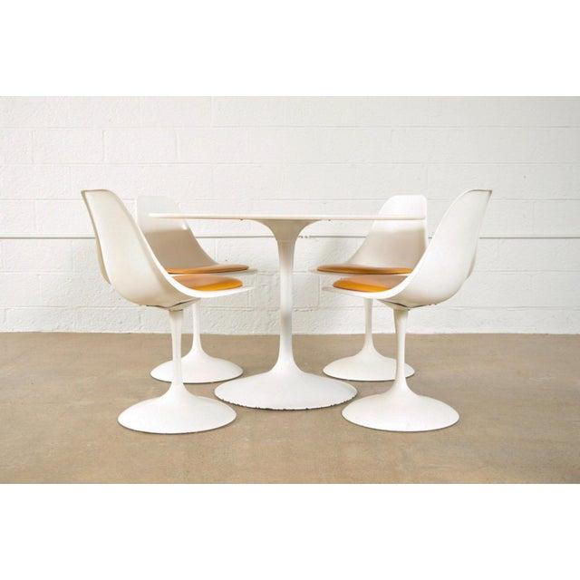 Mid-Century Saarinen Style Tulip Pedestal Dining Set - Set of 5 - Image 2 of 11