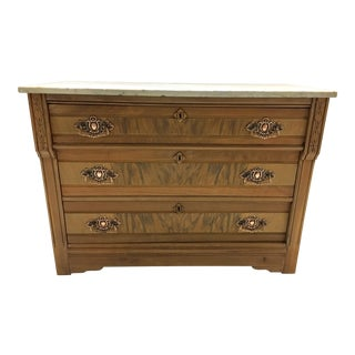 19th C. Mahogany & Marble Chest For Sale