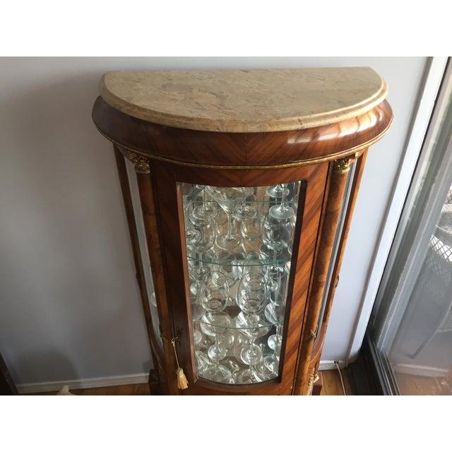 Burlwood Mirrored Curio Cabinet - Image 6 of 8