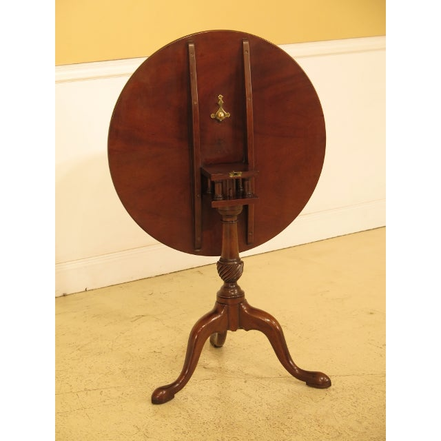 Kittinger Historic Newport Hn-6 Mahogany Tilt Top Table For Sale In Philadelphia - Image 6 of 11