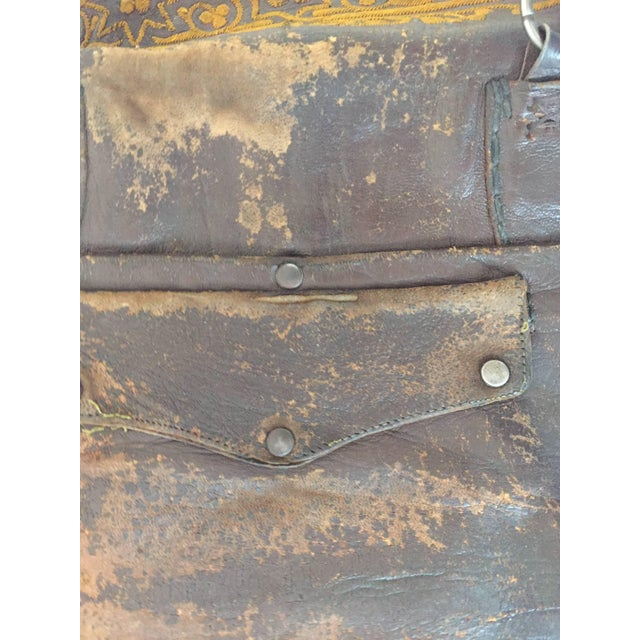 Mid 20th Century Leather Moroccan Berber Bag For Sale - Image 5 of 6
