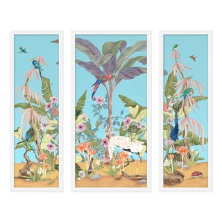 "Large ""Palm Beach Paradise, 3 Panels"" Print by Allison Cosmos, 47"" X 40"" For Sale"