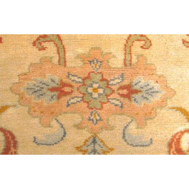 Cotton Oushak Carpet with Delicate Palette For Sale - Image 7 of 7