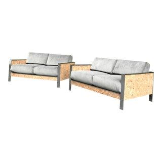 Chrome & Cork Sofas by Adrian Pearsall - a Pair