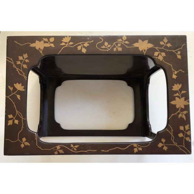 Japanese Japanese Lacquered Nesting Tables For Sale - Image 3 of 11