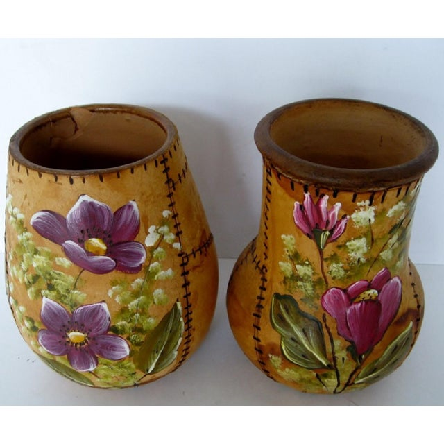 Brazilian Artisan Vases - A Pair - Image 4 of 6