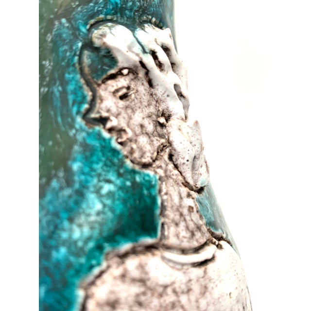 Gambone and Fanciullaci Style Italian Mid-Century Modern Ceramic Vase For Sale - Image 9 of 13