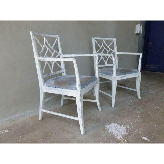 Chippendale 1970s Vintage Chinese Chippendale Armchairs - a Pair For Sale - Image 3 of 8