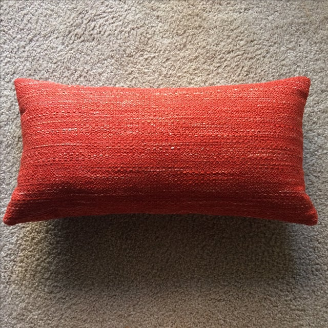 Knoll Mid Century Modern Lumbar Pillow in Paprika - Image 2 of 3