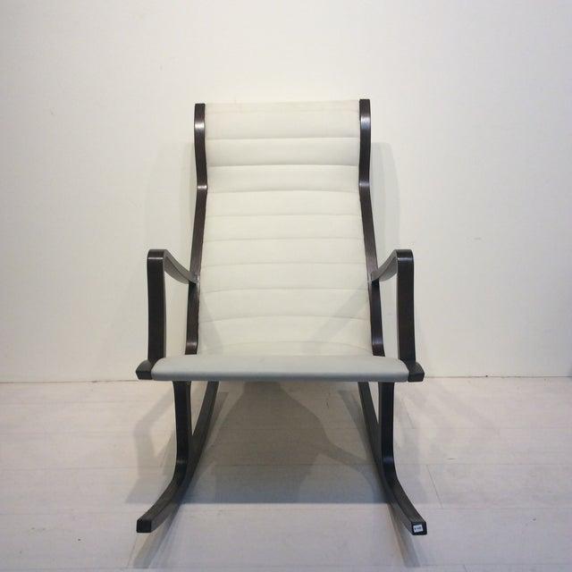 Asian Mitsumasa Sugasawa for Tendo Mokko Mid-Century Modern Heron Rocking Chair For Sale - Image 3 of 10