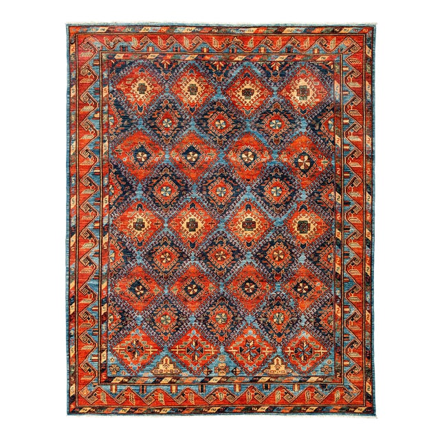"""New Tribal Traditional Hand Knotted Area Rug - 8'1"""" x 10'3"""" - Image 1 of 3"""