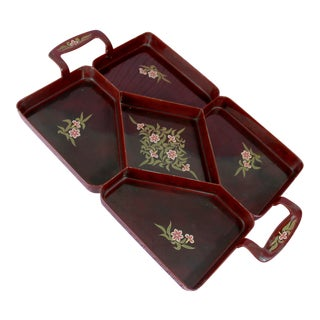 Vintage Maruni Lacquerware Tray For Sale