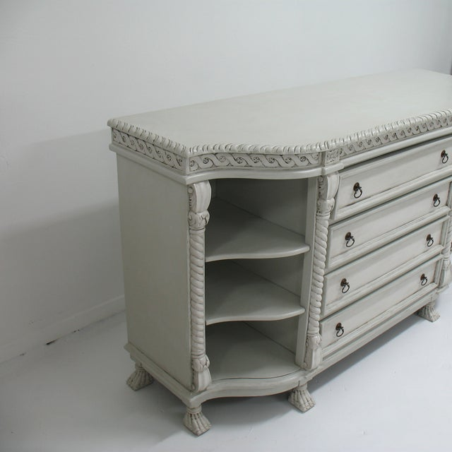 Painted Buffet with Lion's Feet - Image 4 of 7