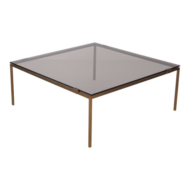 Elegant Brass and Glass Coffee Table in the Manner of Maison Jansen For Sale