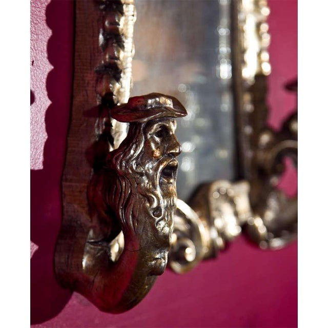 French Rococo Style Mirrored Sconces - A Pair For Sale - Image 4 of 6