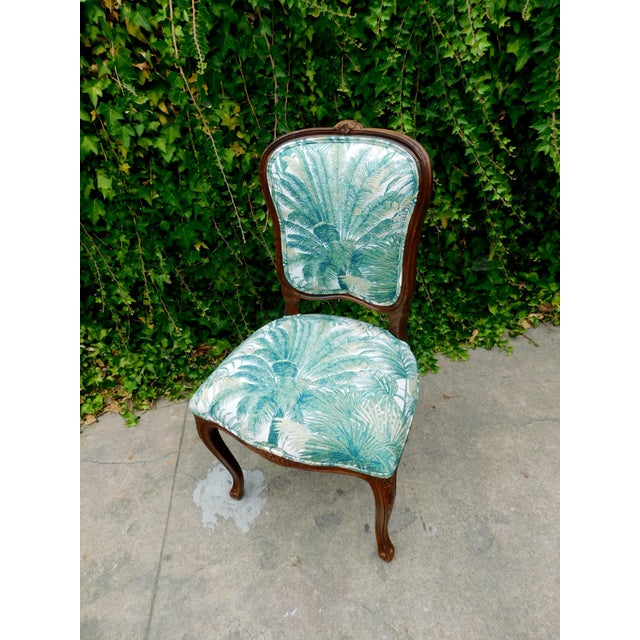Italian Carved Wood Botanical Accent Chair For Sale In San Francisco - Image 6 of 10