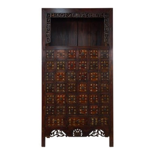 Chinese Antique Apothecary Medicine Herbal Cabinet For Sale