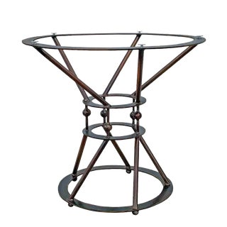Industrial Round Tea Table Base Handmade by Invictus Steelworks For Sale