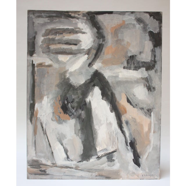Abstract Oil and Gouache on Board by Elizabeth Nachman Erlanger For Sale - Image 11 of 11
