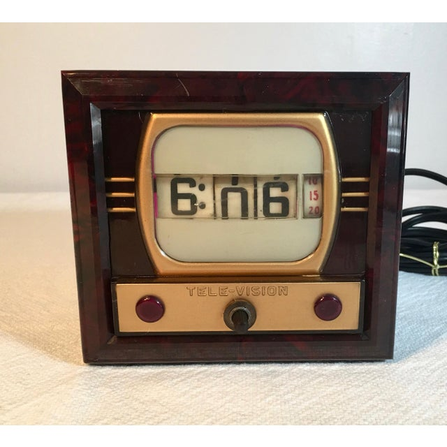 Mid-Century Television Clock For Sale - Image 9 of 9