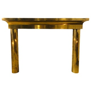 Mid-Century Modern Brass Fireplace Mantel For Sale