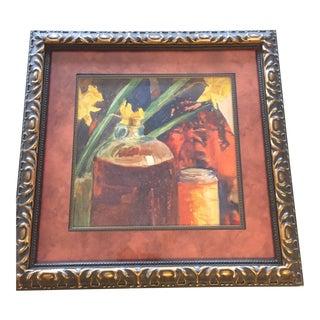 Original Vintage Still Life Watercolor Daffodils For Sale