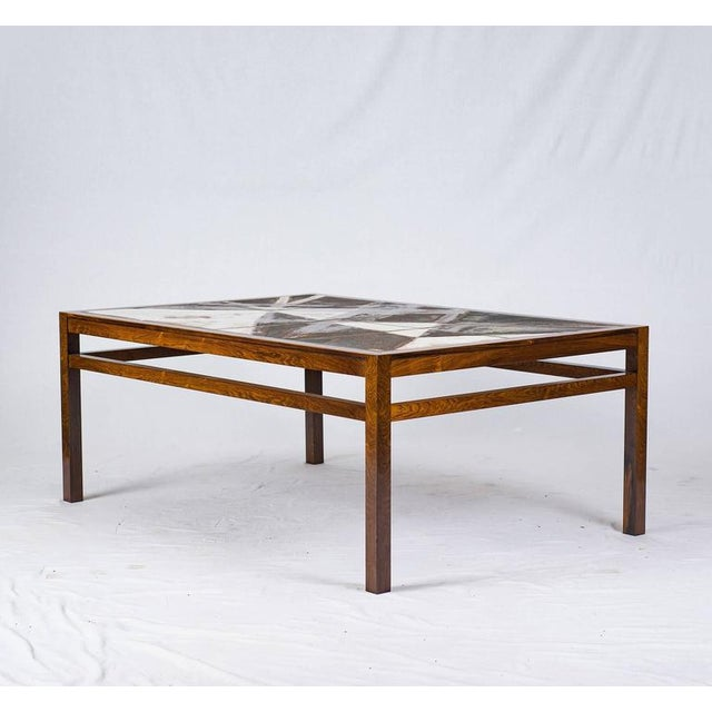 Danish Rosewood Abstract Tile Coffee Table - Image 4 of 10