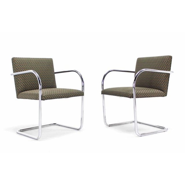 Pair of Mies Brno Side office dining Chairs for Knoll For Sale - Image 9 of 10